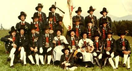 Schützenkompanie Gnadenwald in den 60er Jahren